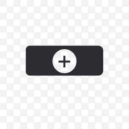 Icona di vettore tappo medico isolato su sfondo trasparente, concetto di marchio tappo medico