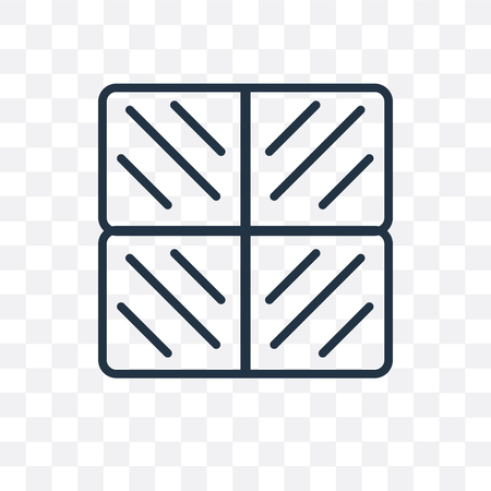 Bestrating vector pictogram geïsoleerd op transparante achtergrond, bestrating logo concept Logo