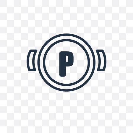 Parking brake vector icon isolated on transparent background, Parking brake logo concept