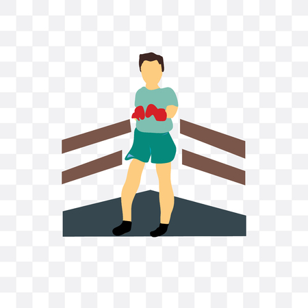 Boxer vector icon isolated on transparent background, Boxer logo concept  イラスト・ベクター素材