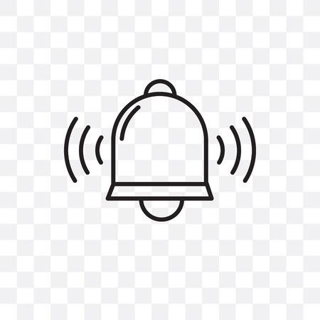 Icono de vector de campana aislado sobre fondo transparente, concepto de logo de campana Logos