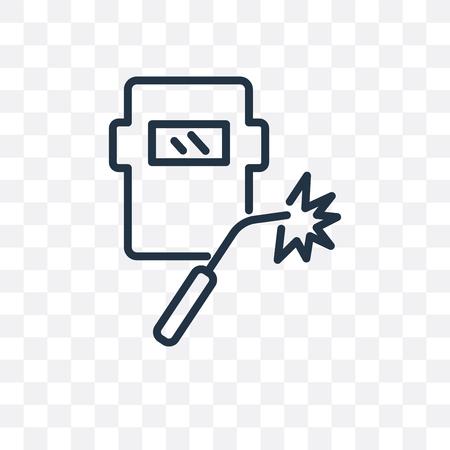 Schweißvektorsymbol lokalisiert auf transparentem Hintergrund, Schweißlogokonzept Logo