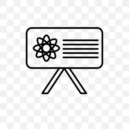 Blackboard vector icon isolated on transparent background, Blackboard logo concept