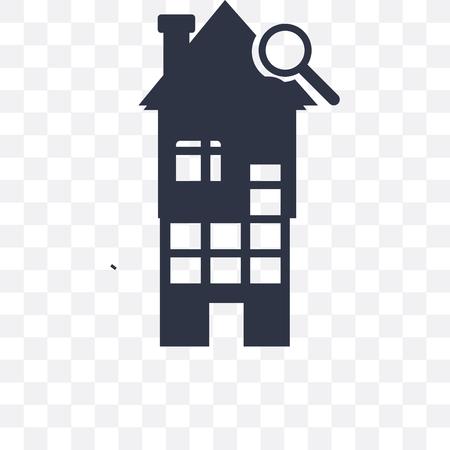 House vector icon isolated on transparent background, House logo concept Illusztráció