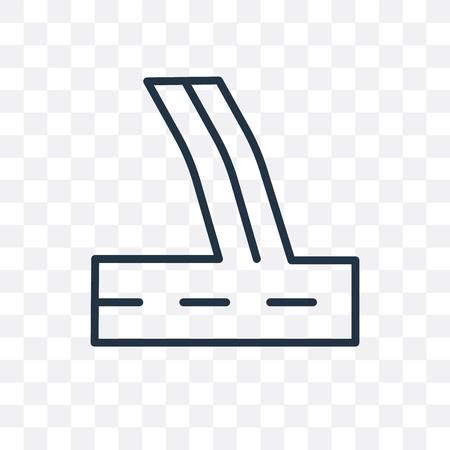 Pflastervektorikone lokalisiert auf transparentem Hintergrund, Pflasterlogokonzept Logo