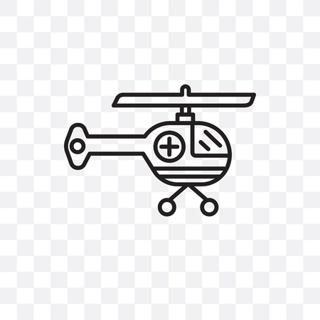 Helicopter vector icon isolated on transparent background, Helicopter logo concept Illustration