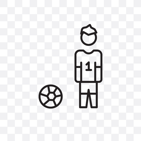 Football player vector icon isolated on transparent background, Football player  concept Stock Vector - 107270327