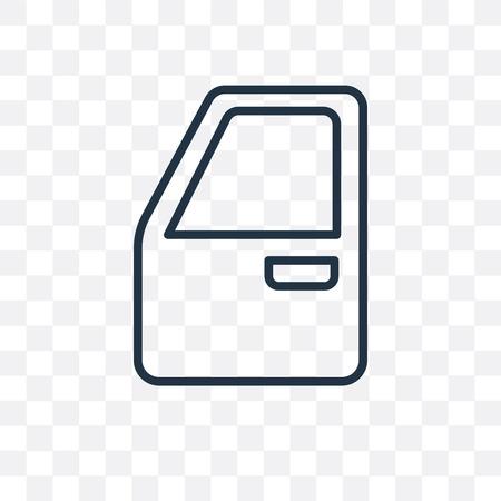 Car door vector icon isolated on transparent background, Car door logo concept Archivio Fotografico - 107169539