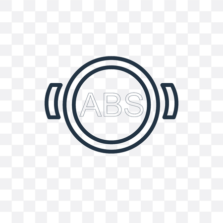 Abs vector icon isolated on transparent background, Abs logo concept Stock Vector - 107169318