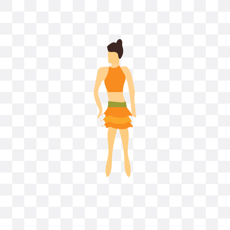 Sexy girl standing vector icon isolated on transparent background, Sexy girl standing  concept Ilustração