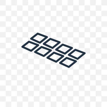 Tiles vector icon isolated on transparent background, Tiles  concept 版權商用圖片 - 107271496