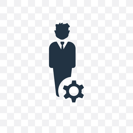 Manager vector icon isolated on transparent background, Manager concept