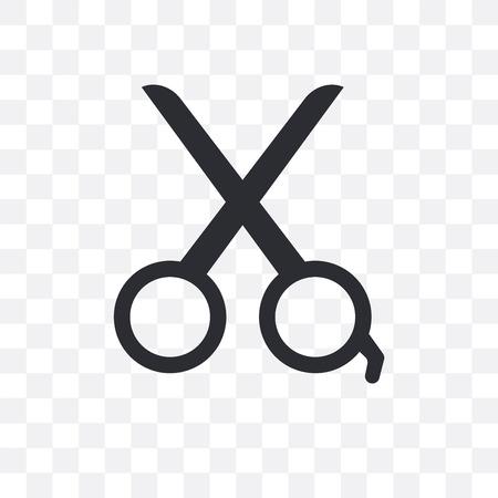 Scissors vector icon isolated on transparent background, Scissors  concept