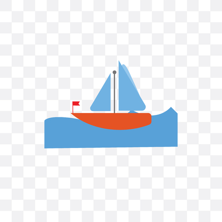 Sailboat vector icon isolated on transparent background, Sailboat  concept