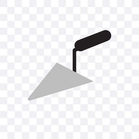 Trowel vector icon isolated on transparent background, Trowel  concept