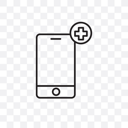 Phone vector icon isolated on transparent background, Phone  concept Çizim