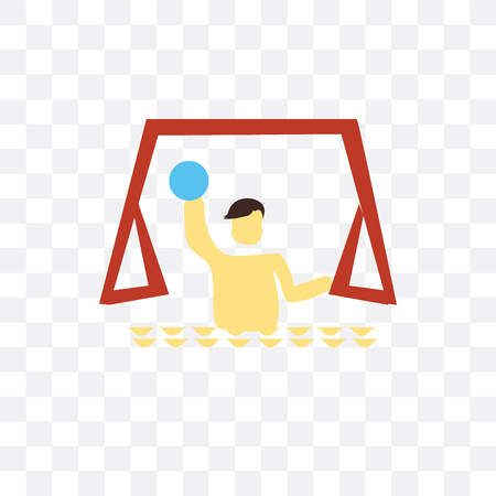 Waterpolo vector icon isolated on transparent background, Waterpolo  concept Illustration