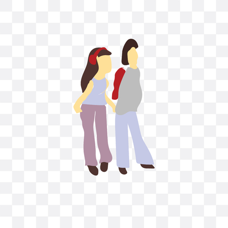 young couple vector icon isolated on transparent background, young couple  concept Vectores