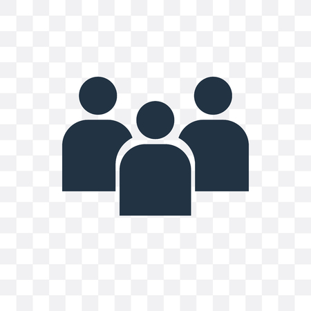 Group vector icon isolated on transparent background, Group  concept