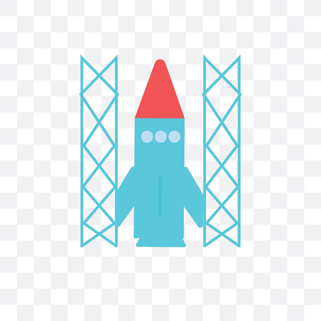 Space shuttle vector icon isolated on transparent background, Space shuttle logo concept