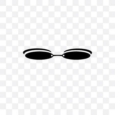 Rectangular eyeglass frame vector icon isolated on transparent background, Rectangular eyeglass frame concept