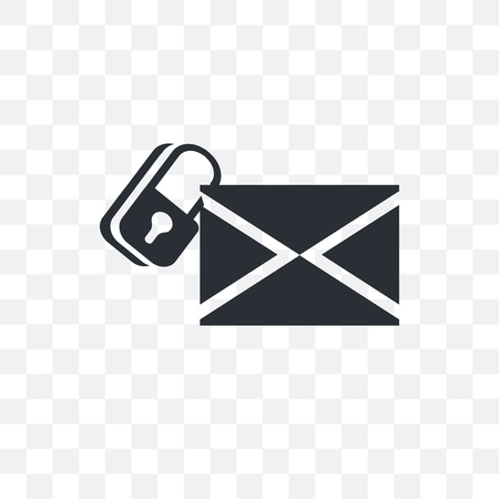 Secure Envelope vector icon isolated on transparent background, Secure Envelope  concept