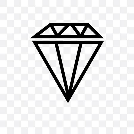 Big diamond vector icon isolated on transparent background, Big diamond  concept
