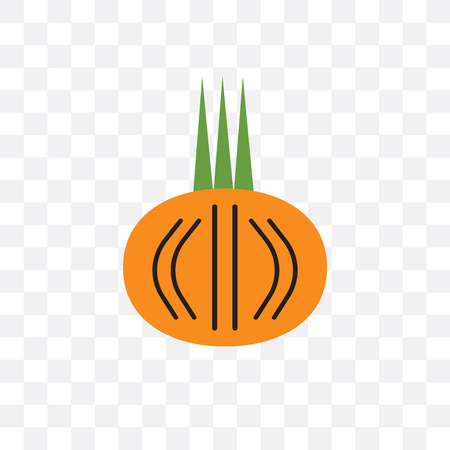 Onion vector icon isolated on transparent background, Onion concept