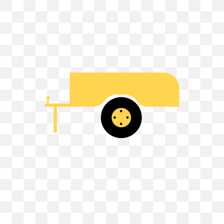 Trailer vector icon isolated on transparent background, Trailer  concept Illustration