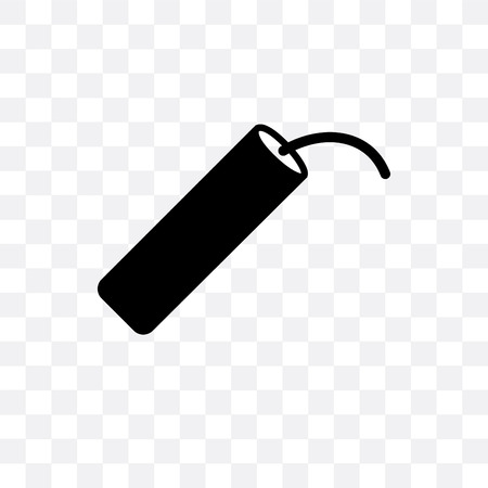 Dynamite vector icon isolated on transparent background, Dynamite  concept Illustration