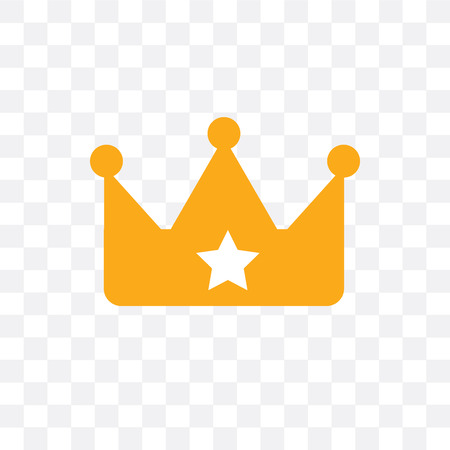 Crown vector icon isolated on transparent background, Crown  concept Illustration