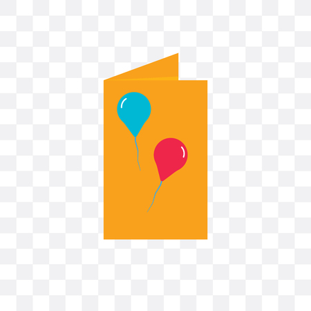 Birthday card vector icon isolated on transparent background, Birthday card  concept Иллюстрация