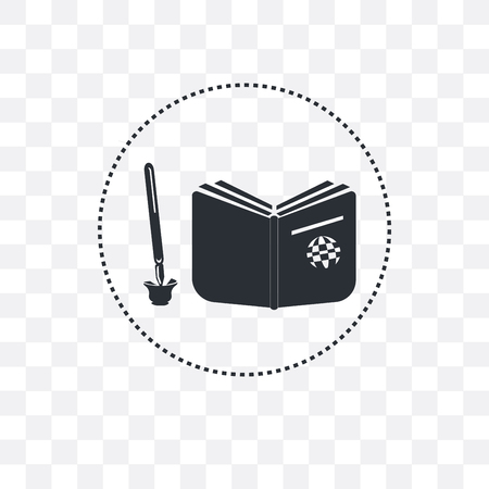 Reading An Open Book vector icon isolated on transparent background, Reading An Open Book  concept