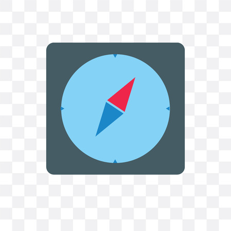 Compass vector icon isolated on transparent background, Compass  concept