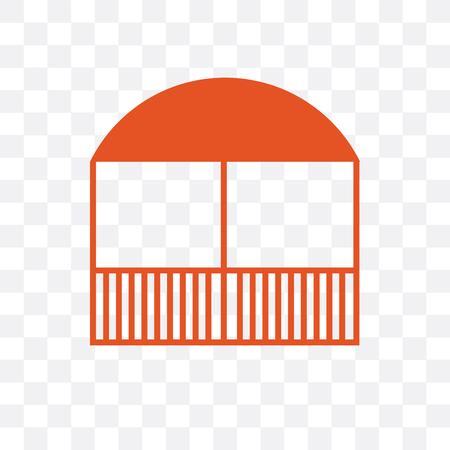 Gazebo vector icon isolated on transparent background, Gazebo  concept