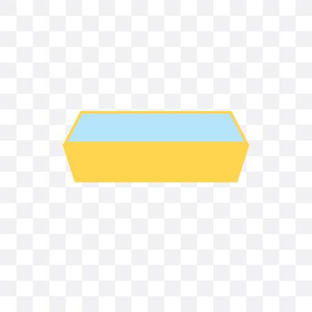 Icône de vecteur de creux isolé sur fond transparent, concept de creux