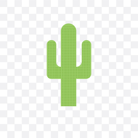Cactus vector icon isolated on transparent background, Cactus  concept