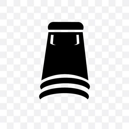 Skirt black short vector icon isolated on transparent background, Skirt black short  concept Illustration