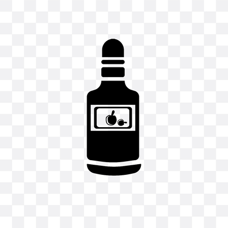 Bottle vector icon isolated on transparent background, Bottle  concept