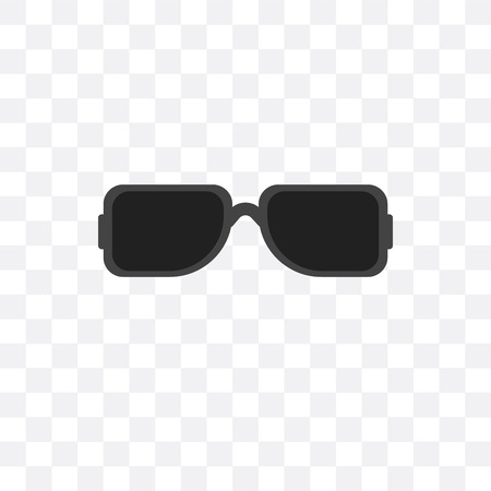 Sunglasses vector icon isolated on transparent background, Sunglasses  concept
