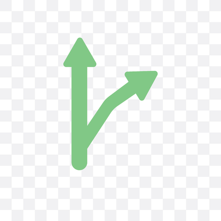 Detour vector icon isolated on transparent background, Detour concept