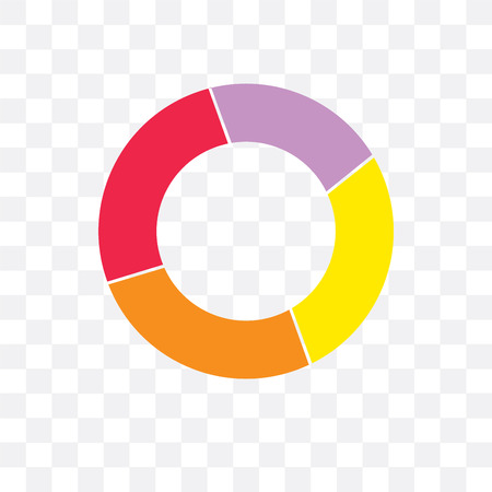 Rubber ring vector icon isolated on transparent background, Rubber ring concept Vetores