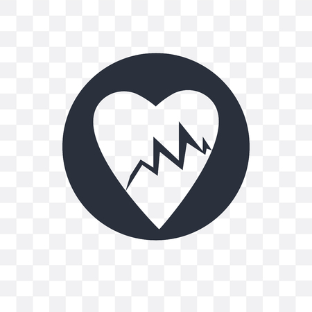 Lifeline of heartbeats on a paper on a clipboard vector icon isolated on transparent background, Lifeline of heartbeats on a paper on a clipboard concept