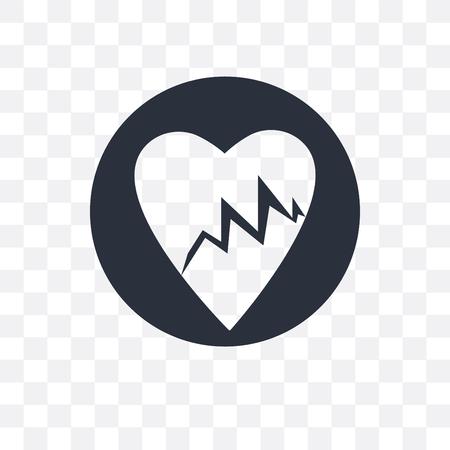 Línea de vida de los latidos del corazón en un papel en un icono de vector de portapapeles aislado sobre fondo transparente, Línea de vida de los latidos del corazón en un papel en un concepto de portapapeles