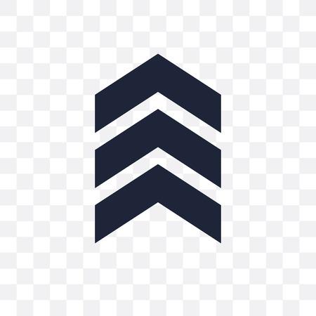 icono transparente de galones. diseño de símbolo de galones de colección del ejército.