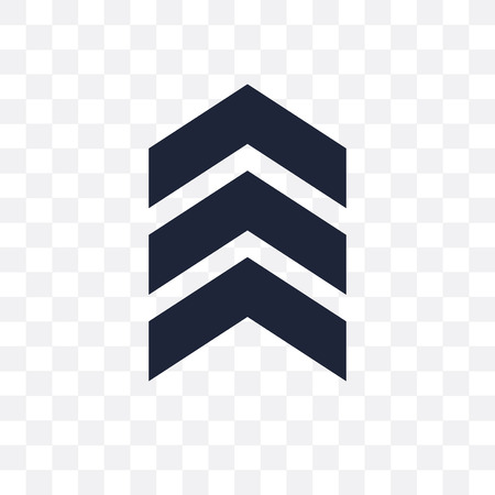 punthaken transparant pictogram. punthaken symbool ontwerp uit leger collectie.