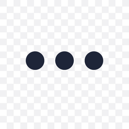 Dot transparent icon. Dot symbol design from Analytics collection. Simple element vector illustration on transparent background. Illustration