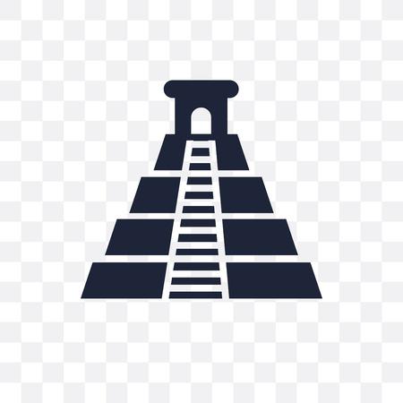 Chichen Itza transparent icon. Chichen Itza symbol design from Architecture collection. Simple element vector illustration on transparent background.