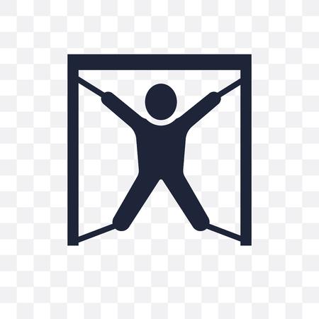 torture transparent icon. torture symbol design from Army collection. Vektoros illusztráció
