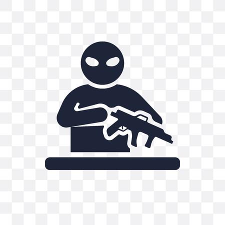 guerrilla transparent icon. guerrilla symbol design from Army collection.